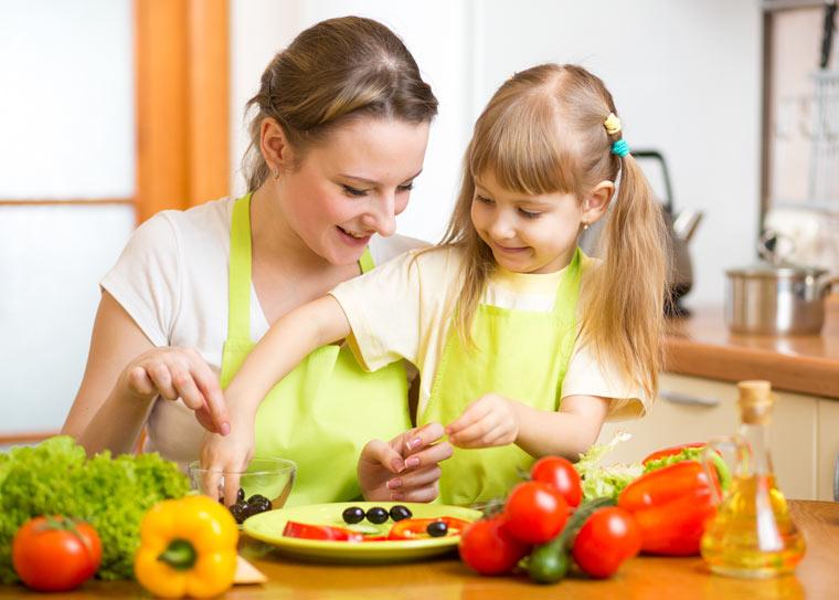 Kinder für gesundes Essen begeistern