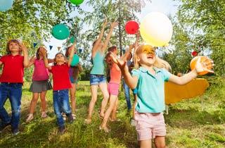 Grüne Kinderparty