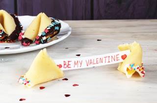 Glückskekse zum Valentinstag
