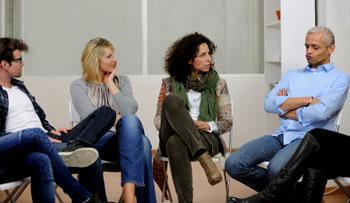 Die Gruppentherapie ist unter Umständen erfolgsversprechend. ©iStockphoto