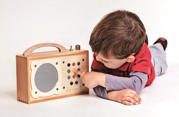 Hörbert: Umweltfreundlicher, giftfreier, digitaler Hörspieler aus Holz und ohne Plastik für Kinder