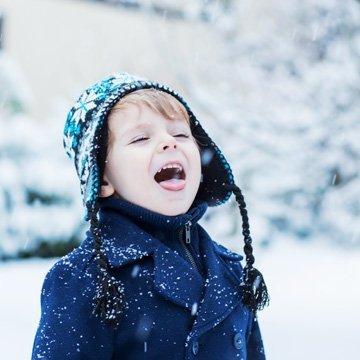 Kinderhaut-Pflege im Winter