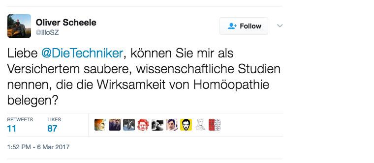 Oliver Scheele auf Twitter