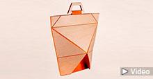 Origami Holz-Falttasche
