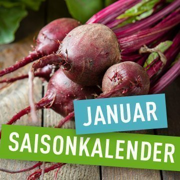 Saisonales Obst und Gemüse im Januar