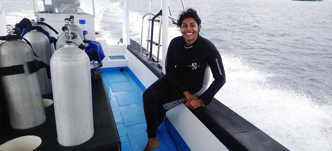 Tharaka Sriram - Von der Nichtschwimmerin zur Meeresschützerin