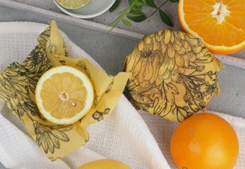 Kleines Bienenwachstuch von Little Bee Fresh, Obst und Gemüse plastikfrei frischhalten
