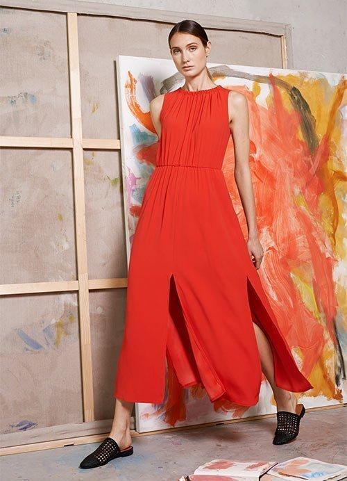 Nina Rein - nachhaltiges rotes Kleid