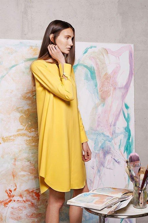 Nina Rein - nachhaltiges gelbes Kleid