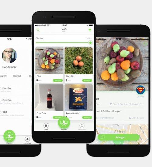 Lebensmittel wertschätzen – mit der UXA App