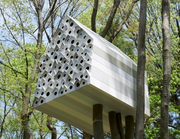 Japanische Vogelvilla mit Gemeinschaftssinn